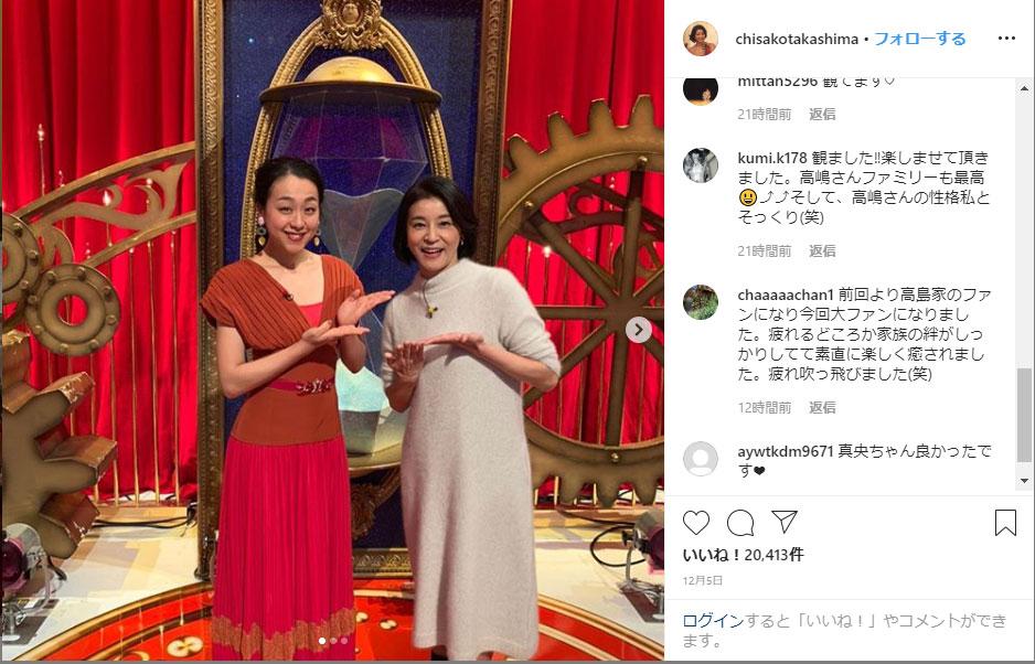 高嶋 ちさ子 instagram